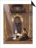 In the Mosque Art by Carl Friedrich Heinrich Werner