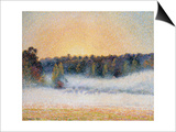 Sunset and Fog, Eragny Prints by Camille Pissarro