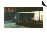 Halcones de la noche Láminas por Edward Hopper