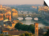 Florence and the Arno River Prints by William Manning