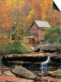 Glade Creek Grist Mill Prints by Ron Watts