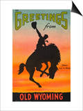 Greetings from Old Wyoming Posters by  Lake County Museum