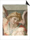 Detail of Figure from a Fresco Painting Depicting the Archangel Michael by School of Raphael Prints by Araldo Luca