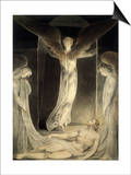 Angels Rolling away the Stone from the Sepulchre Posters by William Blake