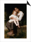 The Elder Sister Posters by William Adolphe Bouguereau