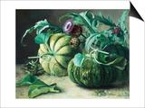 A Still Life of Pumpkins and Artichokes Kunstdrucke von Carl Vilhelm Balsgaard