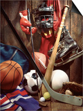 Variety of Sports Equipment Plakater av William Whitehurst