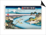 Autumn Moon, Tama River, from the Series Eight Views of Famous Places Posters by Utagawa Toyokuni II