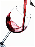 Pouring Red Wine into Wine Glass Print by Steve Lupton