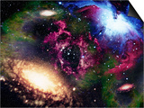 Galaxies and Nebulas of Outer Space Art by Randall Fung