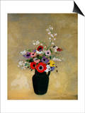 Large Green Vase with Mixed Flowers Posters by Odilon Redon