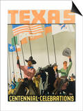 Texas Centennial Celebrations Poster Posters