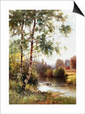 Landscape near Sonning on Thames, England Prints by Ernest Parton