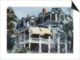 Le toit mansardé Affiche par Edward Hopper