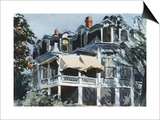 The Mansard Roof Print by Edward Hopper