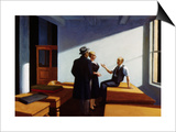 Conference at Night Art par Edward Hopper
