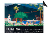 Catalina Island Travel Poster Prints