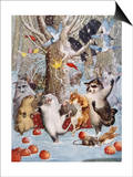 Christmas in the Woods Poster par Philip Vinton Hopkins