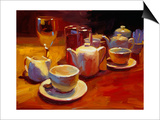 Wine and Tea, London Art by Pam Ingalls