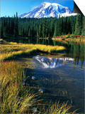 Mount Rainier and Reflection Lakes Prints by Robert Marien