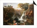 Cascade at Tivoli, Italy Kunstdrucke von Claude Joseph Vernet