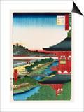 Pagoda of Zojoji, Akabane Prints by Ando Hiroshige