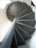 Spiral Staircase Inside Lighthouse Poster by Layne Kennedy