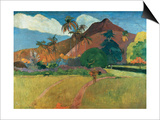 Tahitian Mountains Prints by Paul Gauguin