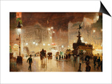 Piccadilly Circus, London Print by George Hyde-Pownall