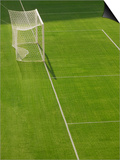 Goal and Net on Empty Soccer Field Print by David Madison
