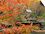 Glade Creek Grist Mill Poster by Ron Watts