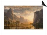 Valley of the Yosemite Poster by Albert Bierstadt