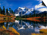 Autumn Foliage Surrounding Picture Lake Poster by Craig Tuttle