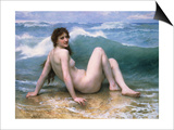 The Wave Posters by William Adolphe Bouguereau