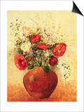 Vase of Flowers Posters by Odilon Redon