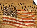 Verfassung und amerikanische Flagge Kunstdrucke von Joseph Sohm