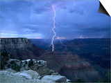 Lightning Above Grand Canyon Prints by James Sparshatt