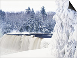 Tahquamenon Falls in Snow Posters by Jim Zuckerman