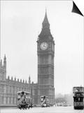 Big Ben and Westminister Bridge circa 1930 Art