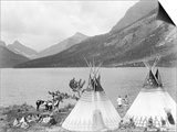Teepee,Indians on Shore of Lake Posters by Philip Gendreau
