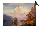 Rocky Mountains Poster by Albert Bierstadt