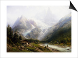 A View of Chamonix and Mont Blanc Posters by Joseph Jansen