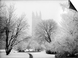 Magdalen College, Oxford, Oxfordshire in the Snow Prints by Henry Taunt