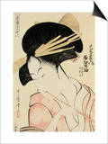 A Half-Length Portrait of the Courtesan Shirotama of the Tamaya Prints by Kitagawa Utamaro