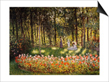 Wooded Scene Prints by Claude Monet
