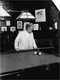 Mark Twain Playing Game of Pool Poster