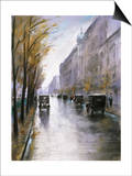 The Tiergartenstrasse, Berlin Prints by Lesser Ury
