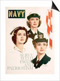 Navy - Serve with Pride and Patriotism Recruiting Poster Art