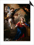 The Annunciation (panel) Pósters por Luca Giordano