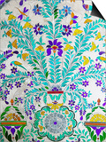Decorated Tile Painting at City Palace, Udaipur, Rajasthan, India Posters by Keren Su